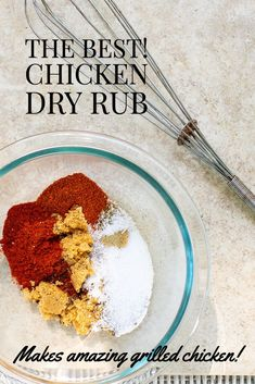 The Best Chicken Spice Rub - great for grilling or roasting!  The chicken seasoning is made with only 6 ingredients that you probably already have in your pantry!  So easy to make and the chicken comes out so flavorful.  Can also be used on beef, pork or seafood! Bbq Chicken Dry Rub, Chicken Spices, Chicken Marinades, Barbecue Chicken, Chicken Seasoning, Roasted Chicken, Baked Chicken, Grilled Fruit, Grilled Beef