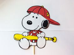 1Ft Snoopy Centerpiece,birthday decorations,baby shower,party supplies,baby snoopy,boy first year birthday,removable wood base,Charlie Brown by LoveToFiesta on Etsy