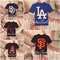 Baseball Jersey Cupcake Toppers  Set of 12 by ElectricLoveCreation
