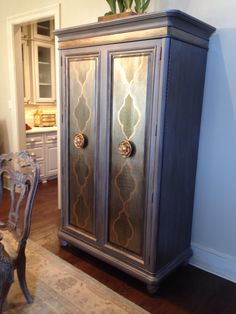 Armoire makeover ....painted furniture by angelfish studios