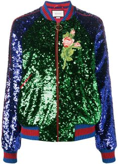 Check out Gucci with over 2 items in stock. Shop Gucci sequin embellished bomber jacket today with fast Australia delivery and free returns. Long Green Jacket, Long Bomber Jacket, Bomber Jackets, Glitter Jacket, Sequin Jacket, Long Jackets, Jackets For Women, Outerwear Jackets, Cl Fashion