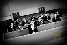 groomsmen photo op- you guys could take this in the church before the guests arrive!!