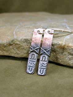 Tribal Earrings  Metalsmith Earrings  Copper by StoneWearDesigns, $51.00