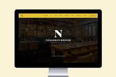 Branding and web design for Manchester restaurant, bar and club Neighbourhood by Ahoy, United Kingdom