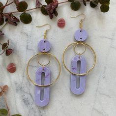 Solar Earrings- Periwinkle – CURA Jewellery#handmade #lightweightearrings #statementearrings #sustainablejewellery #consciousfashion Statement Earrings, Drop Earrings, Periwinkle, Silver Plate, Solar, Plating, Handmade Jewelry, Delicate, Gems