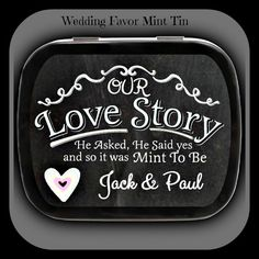 24+ Wedding Favor Mint Tins in 2 Sizes With Choice Of Candies make the Perfect Wedding Favor for a Budget-Concious Couple - FREE SHIPPING!
