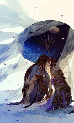 ibuki satsuki shared by Fujioa on We Heart It Chinese Drawings, Chinese Art, Chinese Painting, Art And Illustration, Illustrations, Fantasy Kunst, Fantasy Art, Manhwa, Character Art