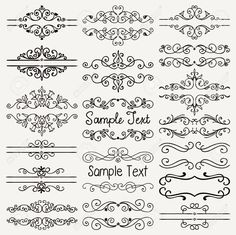 Set Of Hand Drawn Black Doodle Design Elements. Decorative Floral.. Royalty Free Cliparts, Vectors, And Stock Illustration. Image 39307913.
