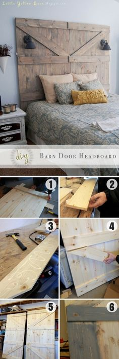 168 Simple DIY Headboard Ideas Your Spouse Will Approve Check out how to easily build a DIY Barn Door Headboard Bedroom Storage, Diy Storage, Bedroom Decor, Storage Ideas, Bedroom Ideas, Storage Shelves, Wall Shelves, Bedroom Makeovers, Budget Bedroom