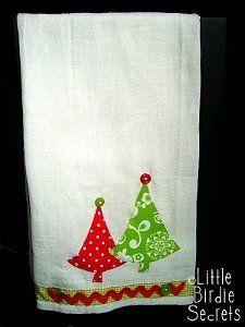 Christmas Applique Tea Towel