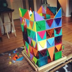 Magna-Tiles shingle house by Magna-Tect Ben