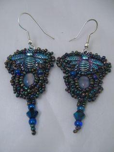 more bead embroidery earrings