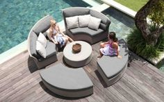 Skyline Design offers a wide range of outdoor furniture for sale. Skyline Design is a luxury outdoor furniture brand that combines modern de Outdoor Lounge, Outdoor Seating, Outdoor Chairs, Outdoor Sectional, Outdoor Furniture Design, Lounge Furniture, Pergola, Skyline Design, Home Garden Design