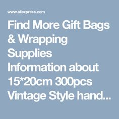 Find More Gift Bags & Wrapping Supplies Information about 15*20cm 300pcs Vintage Style handmade Jute Sacks Drawstring gift bags for jewelry/wedding/christmas Packaging Linen pouch Bags,High Quality for wedding,China gift wedding Suppliers, Cheap gifts for wedding from Fashion MY life on Aliexpress.com