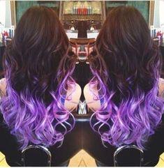 PURPLE - Best Vivid Purple Hair Chalk Set of 6 Purple dip dye I really want this! Ya so cute an looks easy!Purple dip dye I really want this! Ya so cute an looks easy! Hair Tips Dyed Purple, Purple Dip Dye, Hair Dye Tips, Dip Dye Hair, Dye My Hair, Purple Hair, Ombre Hair, Purple Ombre, Dip Dyed