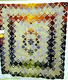 contemporary Dear Jane quilt