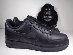 02b7b8832edd Mens Nike Air Force One AF1 Low Black Basketball shoes size 11.5 315122-001