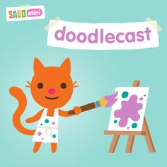 Sago Mini Doodlecast is a unique drawing app that records your voice as you draw. Capture every stroke, word and giggle.