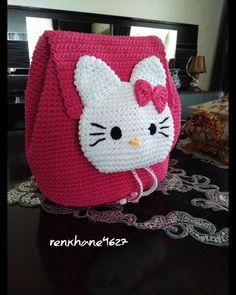 Bobble Crochet, Crochet Stitches, Crochet Patterns, Crochet Girls, Love Crochet, Crochet Baby, Crochet Handbags, Crochet Purses, Hello Kitty Crochet