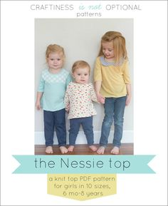 the Nessie knit top PDF pattern by CINOshop on Etsy