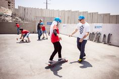 Teaching Israelis and Palestinians to ride longboards, I saw the power of the sport to bring kids together