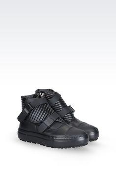 Emporio Armani Men High Top Sneaker - Emporio Armani Official Online Store  Men s High Top Sneakers 69ce6f252a