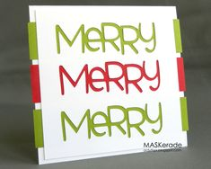 If you have a Cricut, this very merry handmade Christmas card will be a piece of cake to make!