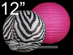 OMGosh!  Zebra paper Lanterns.  As a bonus, they can double as decor for her new bedroom!