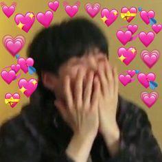 Love You Meme, Cute Love Memes, Bts Meme Faces, Memes Funny Faces, Foto Bts, Love In Korean, Bts Emoji, Bts Face, Heart Meme