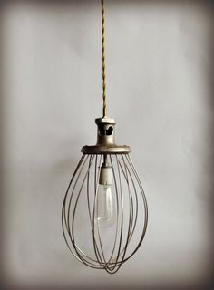 Vintage Pendant Lamp Whisk Industrial Art by ModernArtifactDecor, $85.00