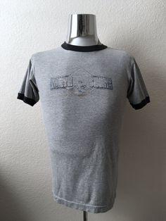 Vintage Men's 80's North Shore T Shirt, Gray, Short Sleeve (S) by Freshandswanky on Etsy