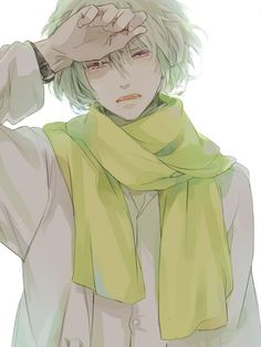 DRAMAtical Murder, Clear, I cried like a baby when he was in Aoba's arms. Anime Nerd, Sad Anime, Anime Guys, Medusa, Deadman Wonderland, Dramatical Murder, World Photo, Kawaii, Manga Illustration