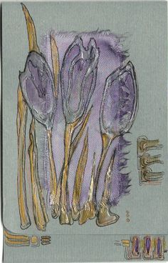 Mauve crocuses  blank greeting card for any occasion by Vlada19, $7,50