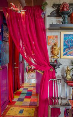 Welcome to Karen's Color Explosion! Bold Colors Creates a Space that is Uniquely Hers