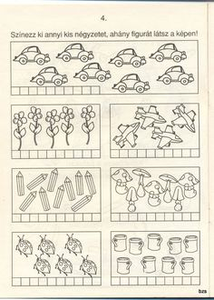 Free Spring Math Worksheet - Count the Flowers Dinosaurs Preschool, First Grade Worksheets, Kindergarten Math, Pre School, Crafts For Kids, Album, Activities, Learning, Creative