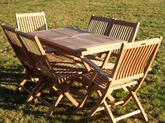 6 Seater Rectangular Folding set with Chairs & Armchairs - 6 Seater Rectangular Folding set with Chairs & Armchairs - Teak Sets - Garden Furniture Sets | Garden Tables | Garden Furniture Benches | Garden Chairs | Parasols & Cushions