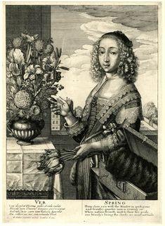 Wenceslaus Hollar Spring / Three-quarter-length Seasons (Europe,British Isles,England,London) Date 1641