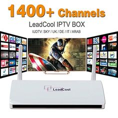 LeadCool Android IP TV1400 Arabic, Europe Sky IPTV Channels. NO MONTHLY PAYMENTS, Box Receiver, no FEES.. pay once enjoy for life