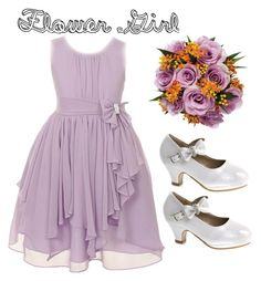 """""""Lil Flower Girl"""" by jfcheney ❤ liked on Polyvore featuring INC International Concepts and Forever Link"""