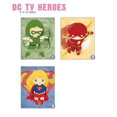 DC TV Heroes 8x10 Prints