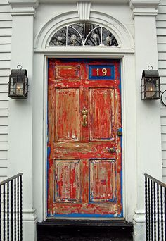 love a shiny red door/I wonder where these door are from? well ...