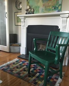 Amsterdam Green Chalk Paint® on Chair   South Australia, AUS Stockist Brocante in the Barossa