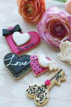 Heart pink cookies