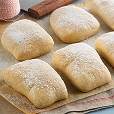 Chewy Italian Rolls - These rolls offer the taste and texture of traditional Italian ciabatta