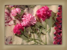 How to make silk ribbon embroidered carnation flowers  time to Bling some jeans:)