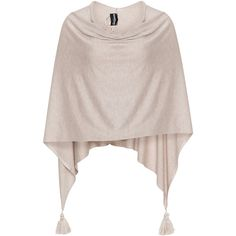 Samoon Sand Plus Size Fine knit tassel poncho ($41) ❤ liked on Polyvore featuring outerwear, plus size, sand, pink poncho, wrap poncho, samoon, plus size poncho and style poncho