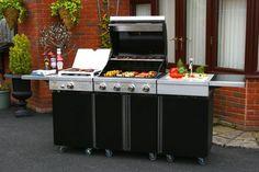Backyard Barbecue Pro Cuisine Kitchen - 4 Burner Gas BBQ, Sink & Side Burner | eBay UK