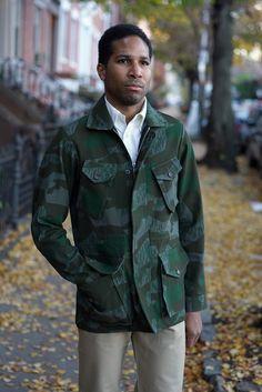 Epaulet camo field jacket