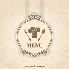 The elegant restaurant menu pattern vector diagram Restaurant Advertising, Restaurant Logo Design, Bakery Logo Design, Menu Restaurant, Kitchen Logo, Soup Kitchen, Flower Background Images, Ice Cream Menu, Badges