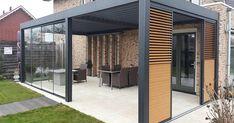 Pergola For Small Patio Code: 2351204101 Patio Diy, Pergola Diy, Pergola With Roof, Outdoor Pergola, Outdoor Rooms, Outdoor Living, Outdoor Decor, Modern Pergola, Patio Ideas